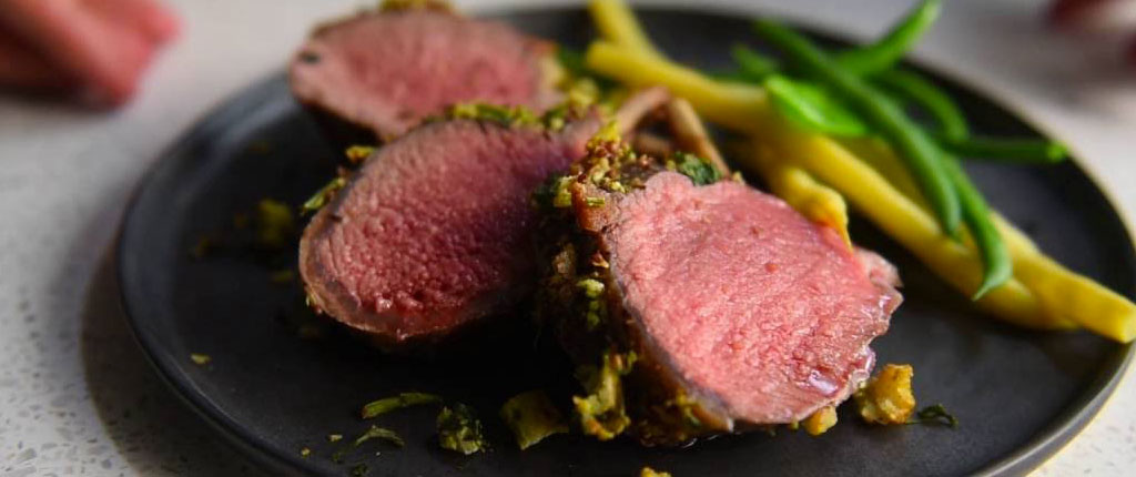 Rack of lamb with a parsley crust